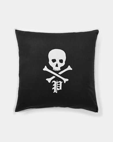 Skull-and-Bones Throw Pillow