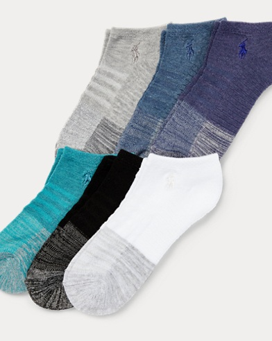 Color-Blocked Mesh Sock 6-Pack