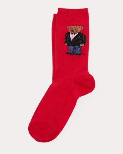 Tuxedo Polo Bear Trouser Socks