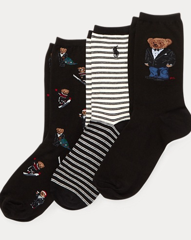 Polo Bear Sock 3-Pack Gift Set