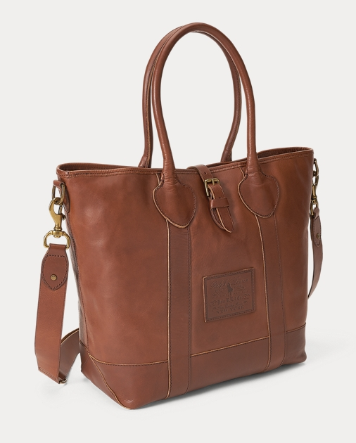 Polo Ralph Lauren Heritage Tumbled Leather Tote 2