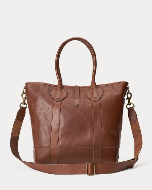Polo Ralph Lauren Heritage Tumbled Leather Tote 3
