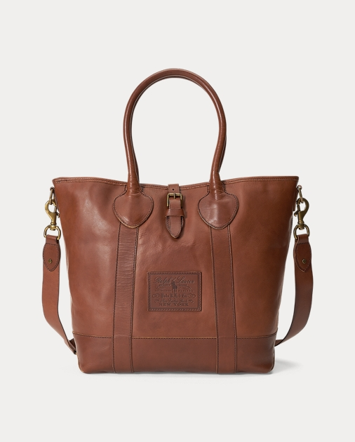Polo Ralph Lauren Heritage Tumbled Leather Tote 1