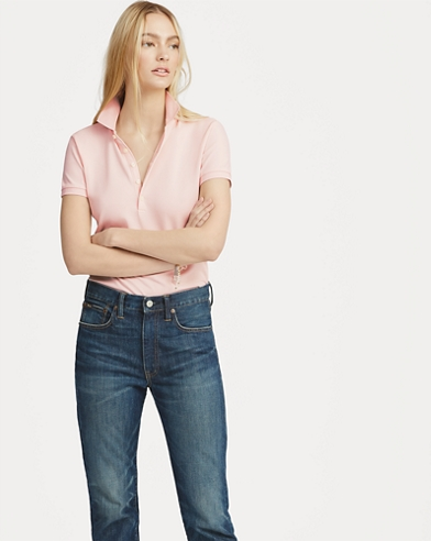 Slim-Fit Polohemd mit Pink Pony