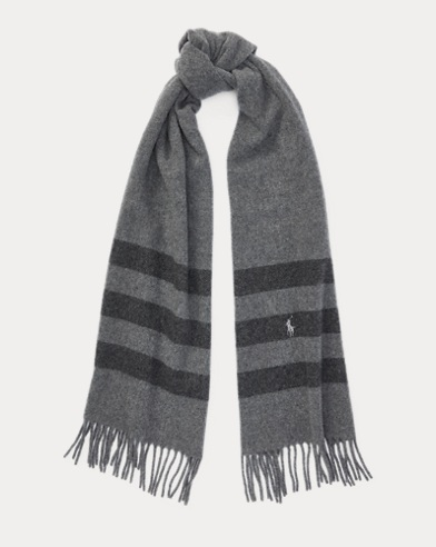 Blanket-Stripe Wool Scarf