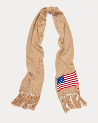 Metallic Flag Wool Scarf