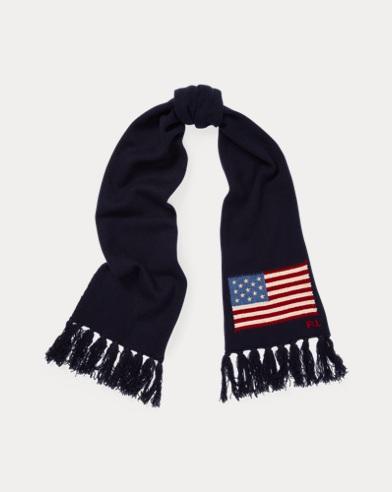 Bufanda de lana con bandera