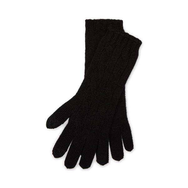 Polo Ralph Lauren Cable-Knit Cashmere Gloves