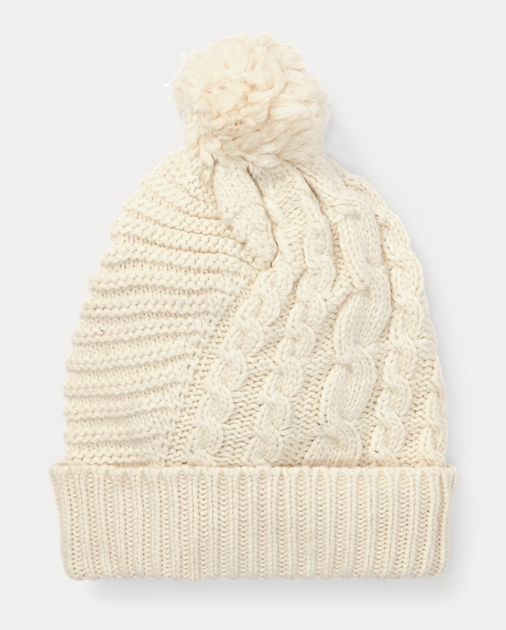 536f22804 Pom-Pom Cable-Knit Hat