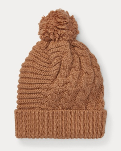 a952999fb3904 Pom-Pom Cable-Knit Hat. Polo Ralph Lauren
