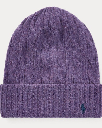 Cable Cashmere-Wool Hat