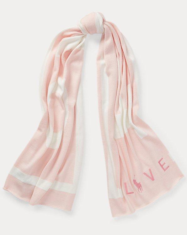 Pink Pony Wool-Blend Scarf