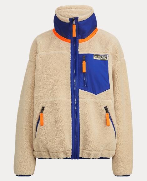 Faux-Shearling Zip Jacket