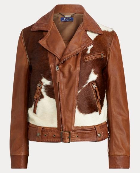 Print Leather Jacket