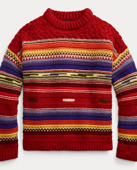 Striped Wool-Cashmere Sweater