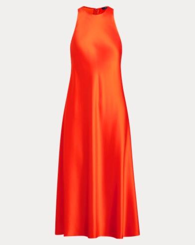 Satin Crewneck Dress