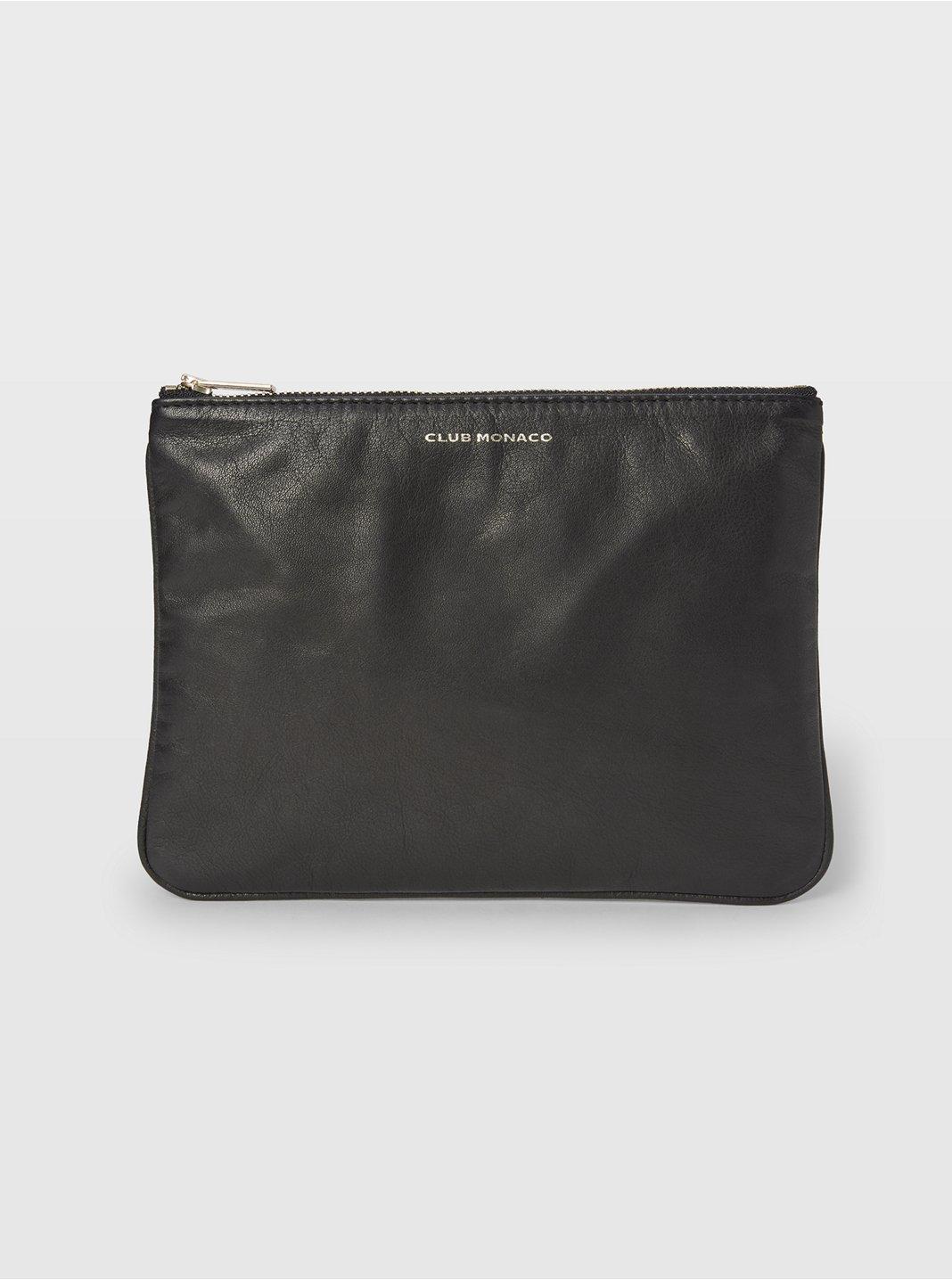 CM Leather Logo Pouch
