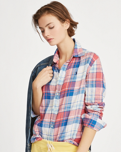 671cd473f4799a Relaxed Fit Plaid Linen Shirt