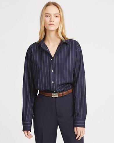 Pinstripe Twill Shirt