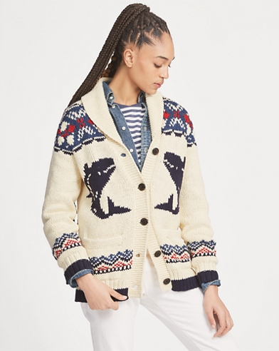 Nautical Shawl Cardigan