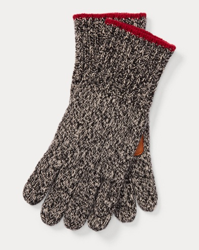 Deerskin-Palm Knit Gloves