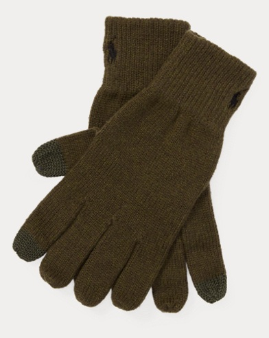 Cotton-Blend Touch Gloves