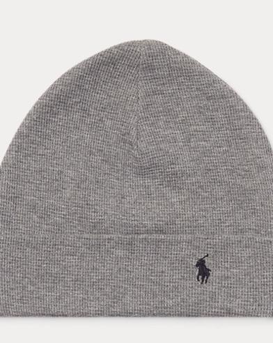 Waffle-Knit Cotton Hat