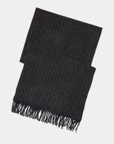 Chalk-Stripe Scarf