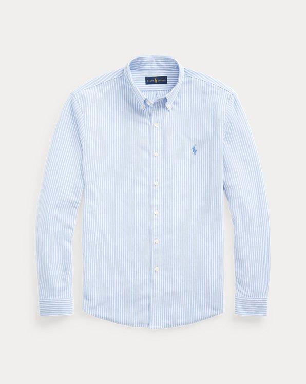 Baumwollpiqué-Oxford mit Streifen