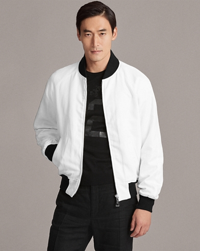 Cotton-Linen Baseball Jacket