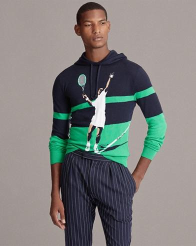 e74a1e4b6 Cashmere Hooded Sweater. Purple Label