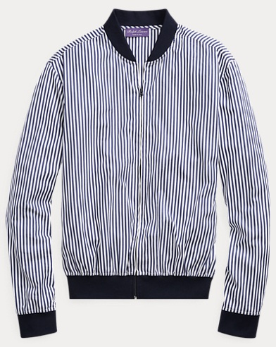 Striped Twill Shirt Jacket