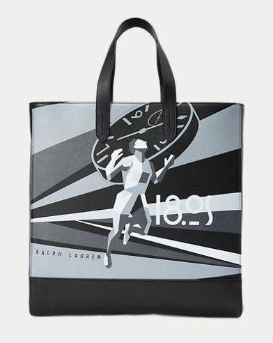 Calfskin Art Deco Tote Bag