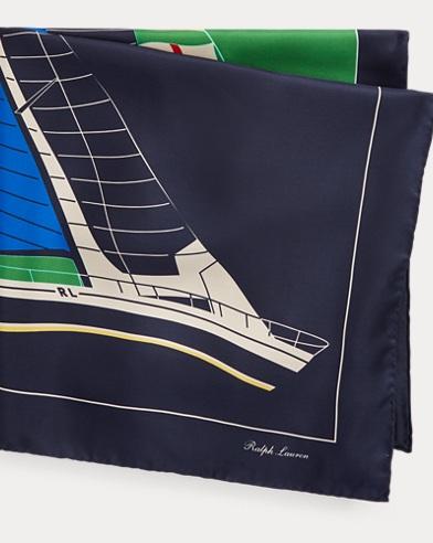 Foulard nautique en soie