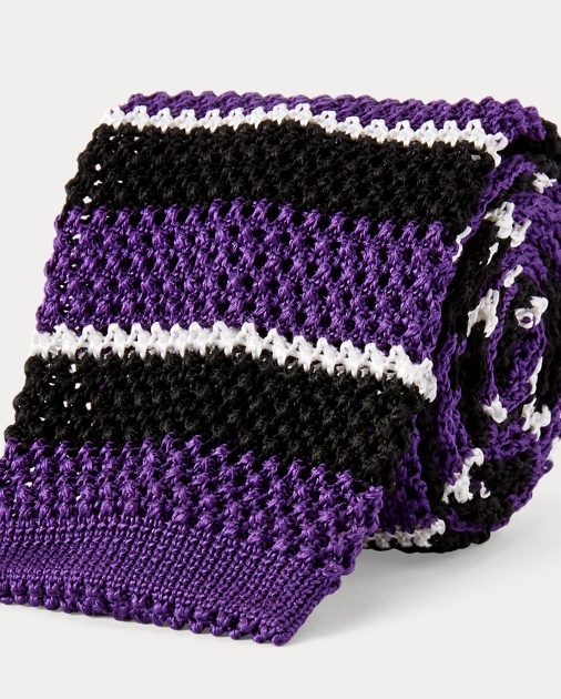 Cravate rayée maille de soie ec3433ef267
