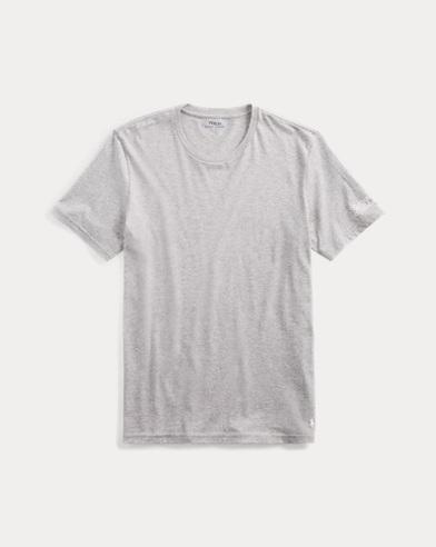 Camiseta de jersey de algodón con cuello redondo