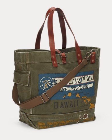 b73814befca3 Cotton Military Tote. Polo Ralph Lauren
