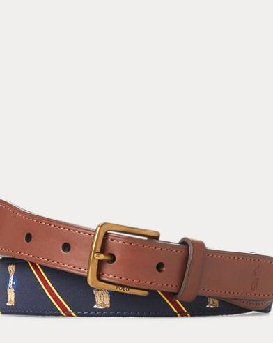Fox-Overlay Webbed Belt