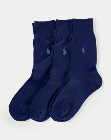 Cotton-Blend Crew Sock 3-Pack
