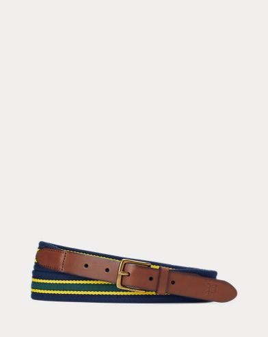 Woven Striped Belt