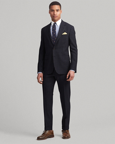 Polo Striped Wool Suit