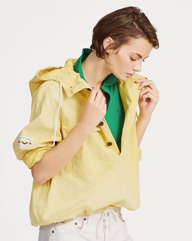 Chemise en sergé à capuche à cordon de serrage