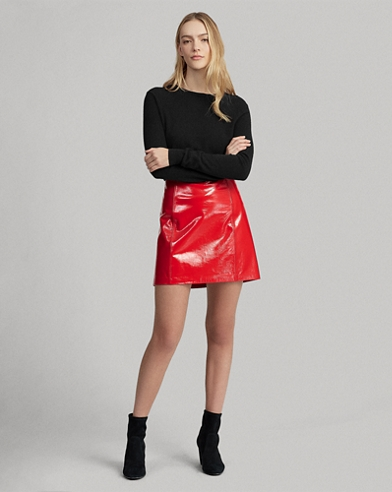 07b504d9522 Patent Leather Miniskirt