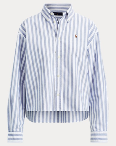 488a2ce62d224 Take 30% off. Polo Ralph Lauren. Cropped Oxford Shirt