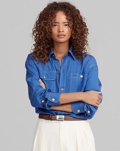 Twill Button-Down Shirt