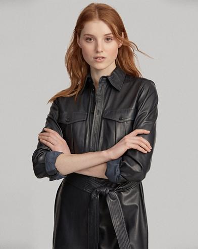Leather Shirtdress