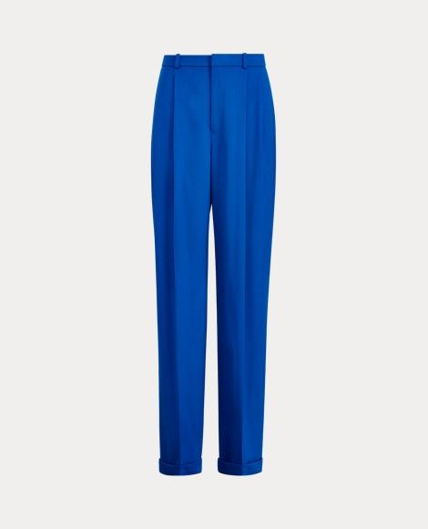 Wool-Blend Wide-Leg Pant