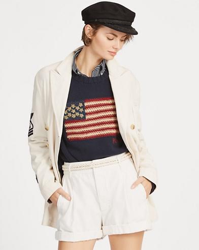 Embroidered Cotton Blazer