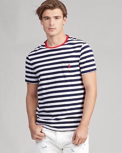 Custom-Slim-Fit T-Shirt mit Tasche