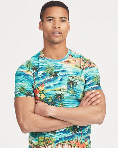Custom Slim Fit Tropical Tee